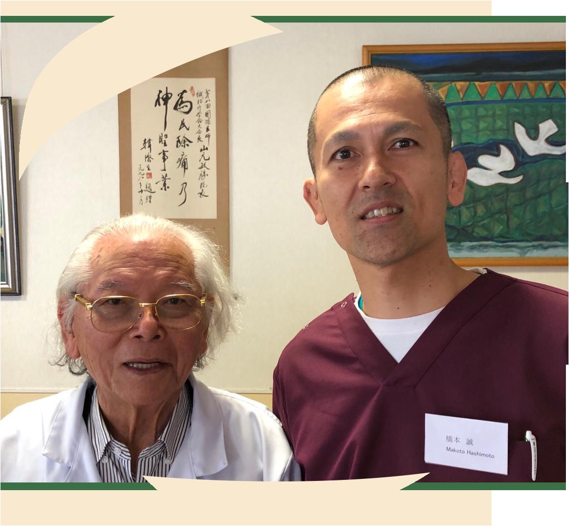 宮崎の研修にて YNSA創始者の山元医師と